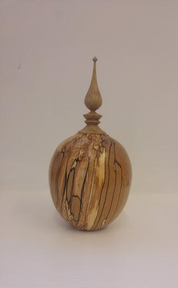 Spalted Beach and Oak Finial