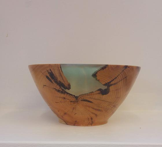 Yew and Resin Bowl